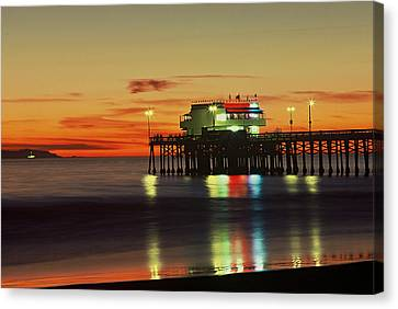 Newport Pier After Sunset Canvas Print