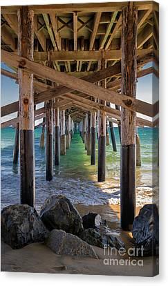Canvas Print - Newport Pier by Mariola Bitner