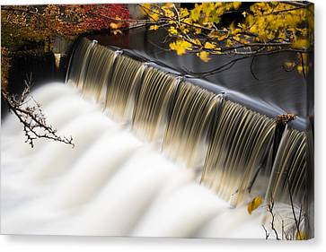 Newton Upper Falls Autumn Waterfall Canvas Print by Toby McGuire