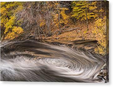 Newton Upper Falls Dual Whirlpool Newton Ma Canvas Print by Toby McGuire