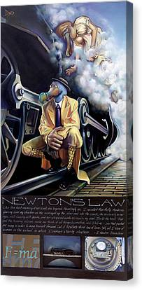 Newton's Law Canvas Print by Patrick Anthony Pierson