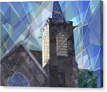 Newtown Steeple Canvas Print by Vickie G Buccini