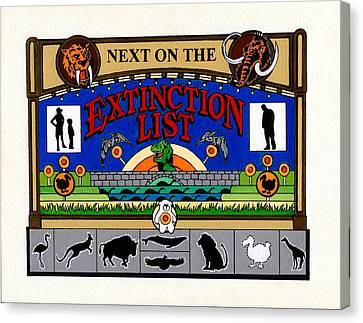 Next On The Extinction List Canvas Print by Turtle Caps