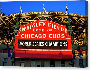 Ballpark Canvas Print - Next Year Is Here by Andrew Soundarajan