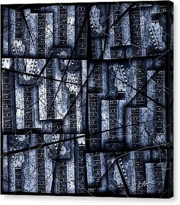 Strat Canvas Print - Nexxus 02 Slate Blue by Gary Bodnar