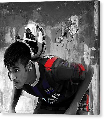Neymar 02 Canvas Print by Gull G