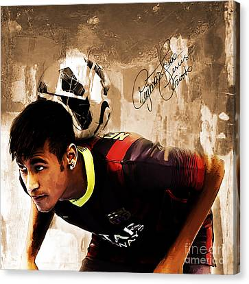 Neymar 02b Canvas Print by Gull G