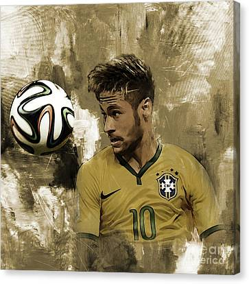 Neymar 05a Canvas Print by Gull G