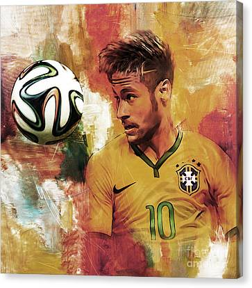 Neymar 05d Canvas Print by Gull G
