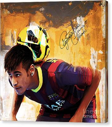 Neymar 1a Canvas Print by Gull G