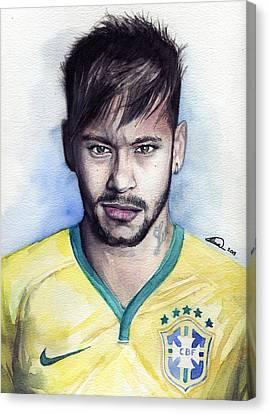 Nike Canvas Print - Neymar by Alban Dizdari
