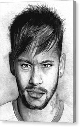 Neymar Portrait Canvas Print by Alban Dizdari