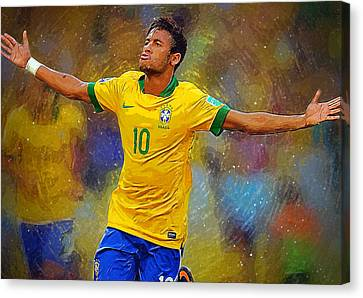 Neymar Canvas Print by Semih Yurdabak