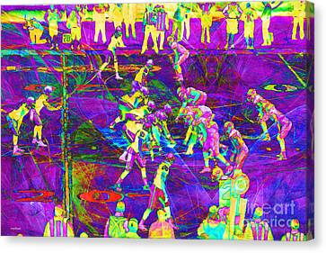Nfl Football Red Zone Dsc3941 20151215 M135 Canvas Print by Wingsdomain Art and Photography