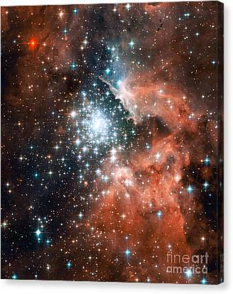 Ngc 3603, Giant Nebula Canvas Print by Nasa