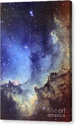 Nebular Canvas Print - Ngc 7380 Emission Nebula In Cepheus by Ken Crawford
