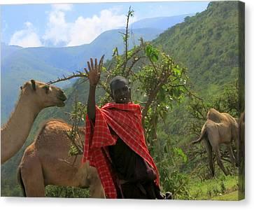 Ngorongoro Herder Canvas Print
