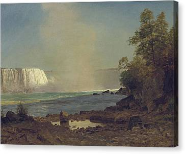 Niagara Falls Canvas Print by Albert Bierstadt