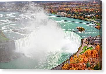 Niagara Falls Autumn Canvas Print by Charline Xia