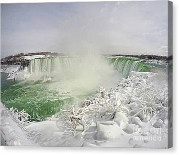 Niagara Falls Beautiful Winter Scene Canvas Print by Charline Xia