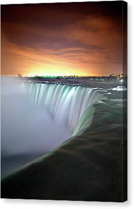 Niagara Falls By Night Canvas Print by Insight Imaging
