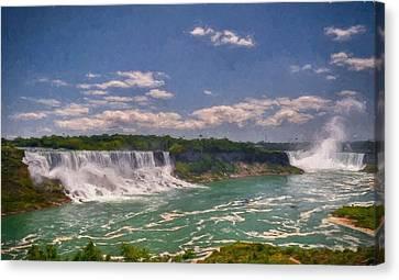 Fall In Niagara Falls Canvas Print