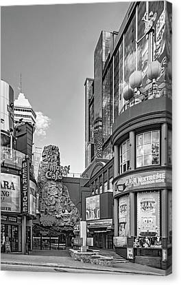 Fast Food Canvas Print - Niagara Falls - Clifton Street 3 Bw by Steve Harrington