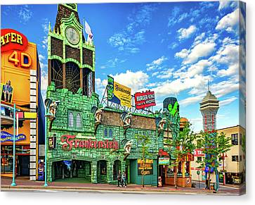 Fast Food Canvas Print - Niagara Falls - Clifton Street Horror by Steve Harrington
