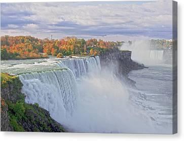Niagara Falls In Autumn Canvas Print