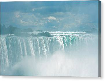 Niagara Falls In The Blue Mist Canvas Print by Ben and Raisa Gertsberg