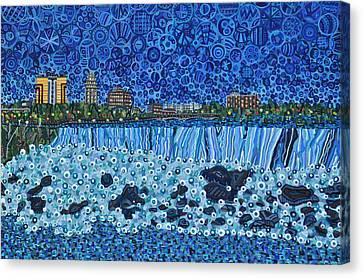 Niagara Falls - Night Canvas Print by Micah Mullen