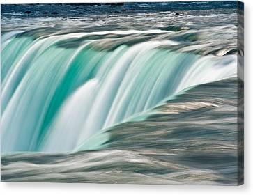 Abstract Water Fall Canvas Print - Niagara Falls Number 2 by Steve Gadomski