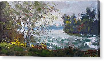 Rapids Canvas Print - Niagara Falls Park Rapids by Ylli Haruni