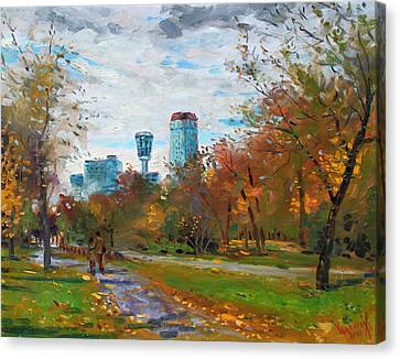 Lanscape Canvas Print - Niagara Falls Park by Ylli Haruni