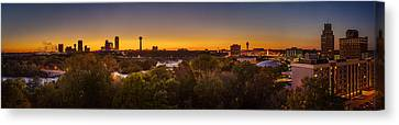 Canvas Print featuring the photograph Niagara Falls Twilight From The 9th Floor by Chris Bordeleau