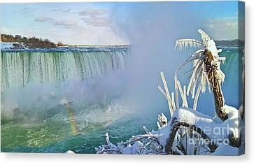 Niagara Falls Winter Landscape Canvas Print by Charline Xia
