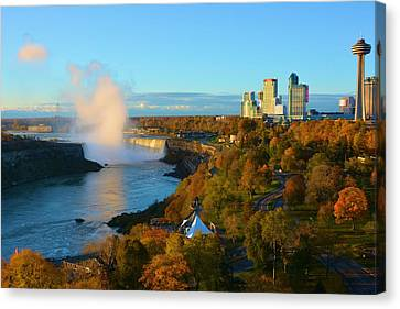 Niagara Horseshoe Falls Autumn Canvas Print by Richard Jenkins