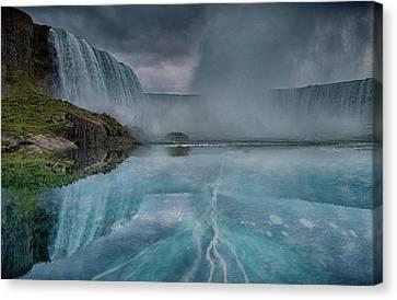 Niagara Ice Canvas Print by Martin Newman