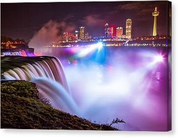Niagara Night Canvas Print by Adam Pender