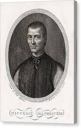 Niccolo Machiavelli, Italian Philosopher Canvas Print by Middle Temple Library