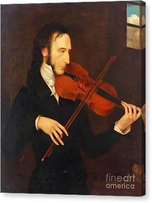Niccolo Paganini  Canvas Print by MotionAge Designs