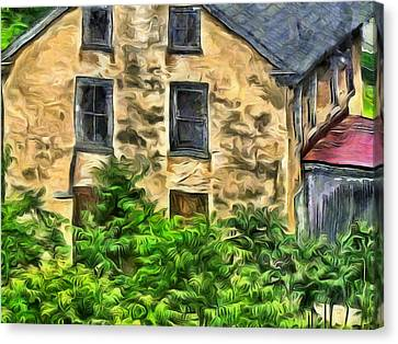 Canvas Print featuring the mixed media Niccolo by Trish Tritz