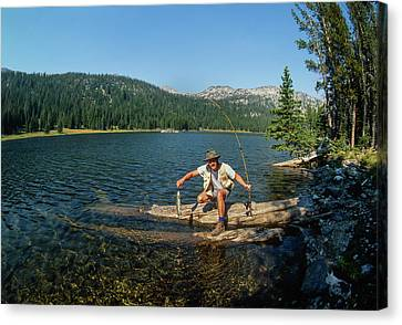Nice Catch Canvas Print by Jerry Voss