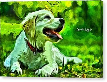 Nice Dog - Da Canvas Print by Leonardo Digenio