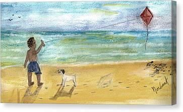 Nice Dog Canvas Print by Thomas J Norbeck