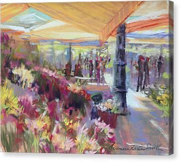 Nice Flower Market Canvas Print by Jeanne Rosier Smith