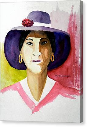 Nice Hat Canvas Print by John Wolfersberger