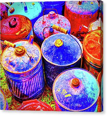 Nice Oil Cans Canvas Print