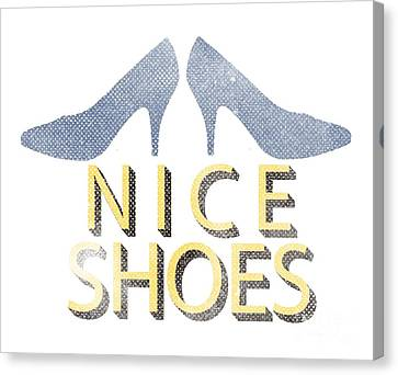 Nice Shoes Tee Canvas Print by Edward Fielding