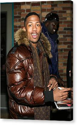 Nick Cannon Wearing Louis Vuitton Scarf Canvas Print by Everett